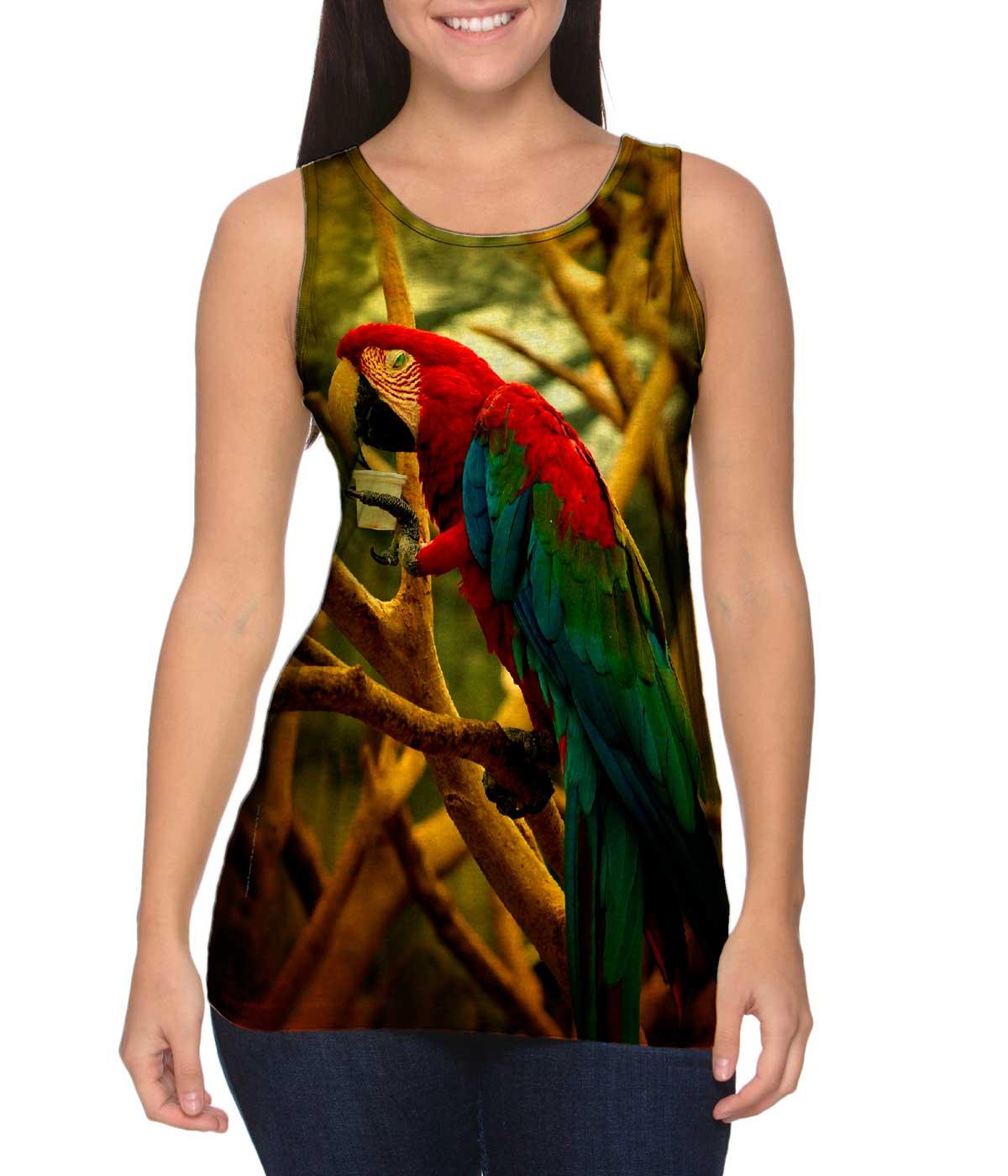 Yizzam-Cafe-Macaw-New-Ladies-Women-Tank-XS-S-M-L-XL-2XL-3XL-4XL
