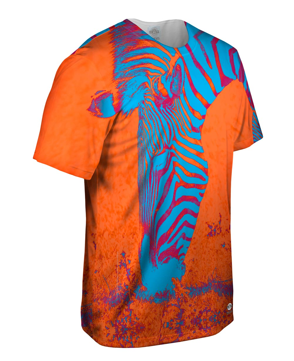 Yizzam neon orange zebra new men unisex tee shirt xs s for Best website to sell t shirts