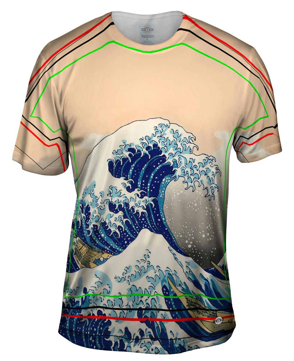 Yizzam hokusai the great wave off kanagawa new men The great t shirt