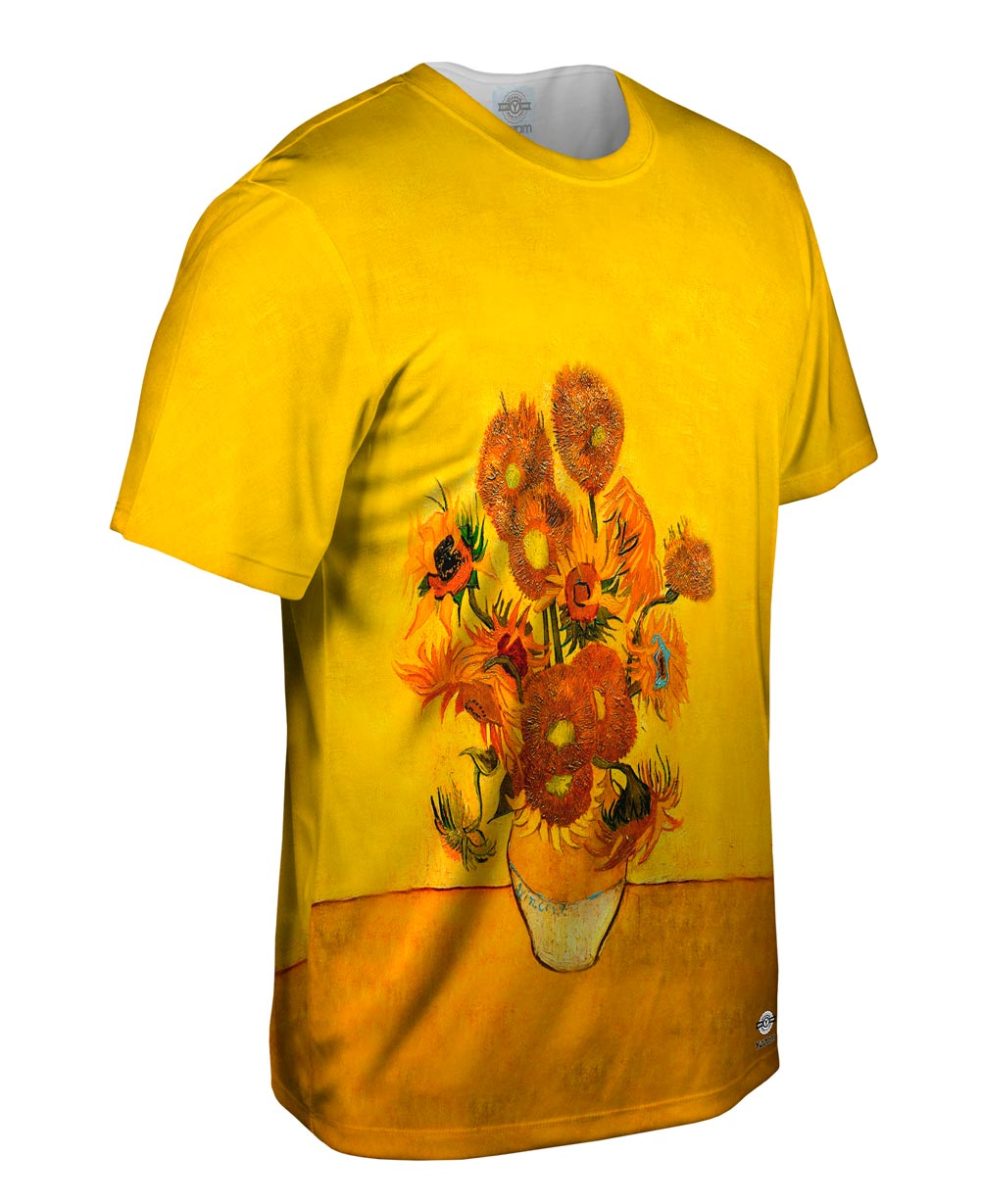 Yizzam van gogh sunflowers london version new men for Best website to sell shirts