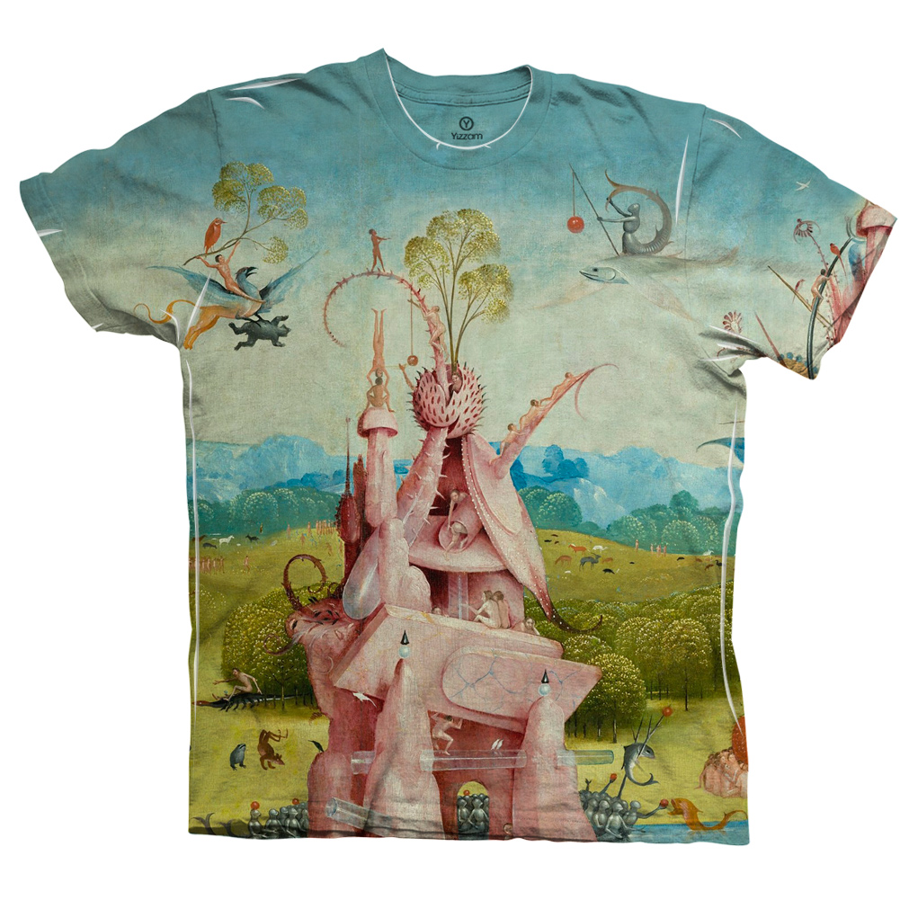 Yizzam Hieronymus Bosch The Garden Of Earthly Delights 02 Mens Tshirt Where