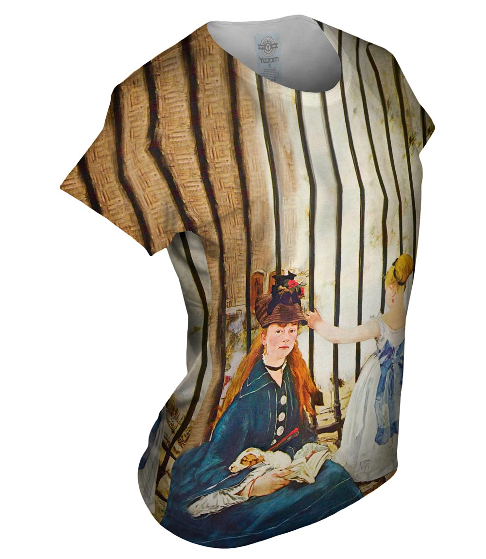 "Yizzam - Manet - ""Gare Saint-Lazare""- New Ladies Top Women Tshirt Tee"