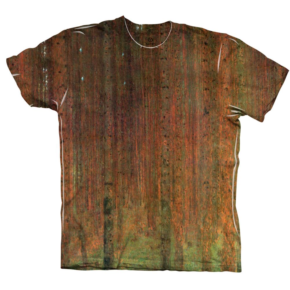 "Yizzam - Klimt - ""Pine Forest II""-  New Men Unisex Tee Shirt"