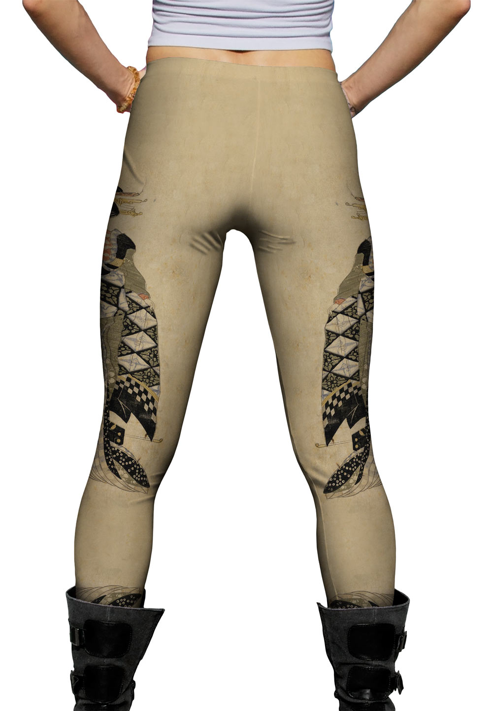 """Yizzam - Japanese Art - """"Lady standing by a chest""""- New Ladies Womens Leggings"""