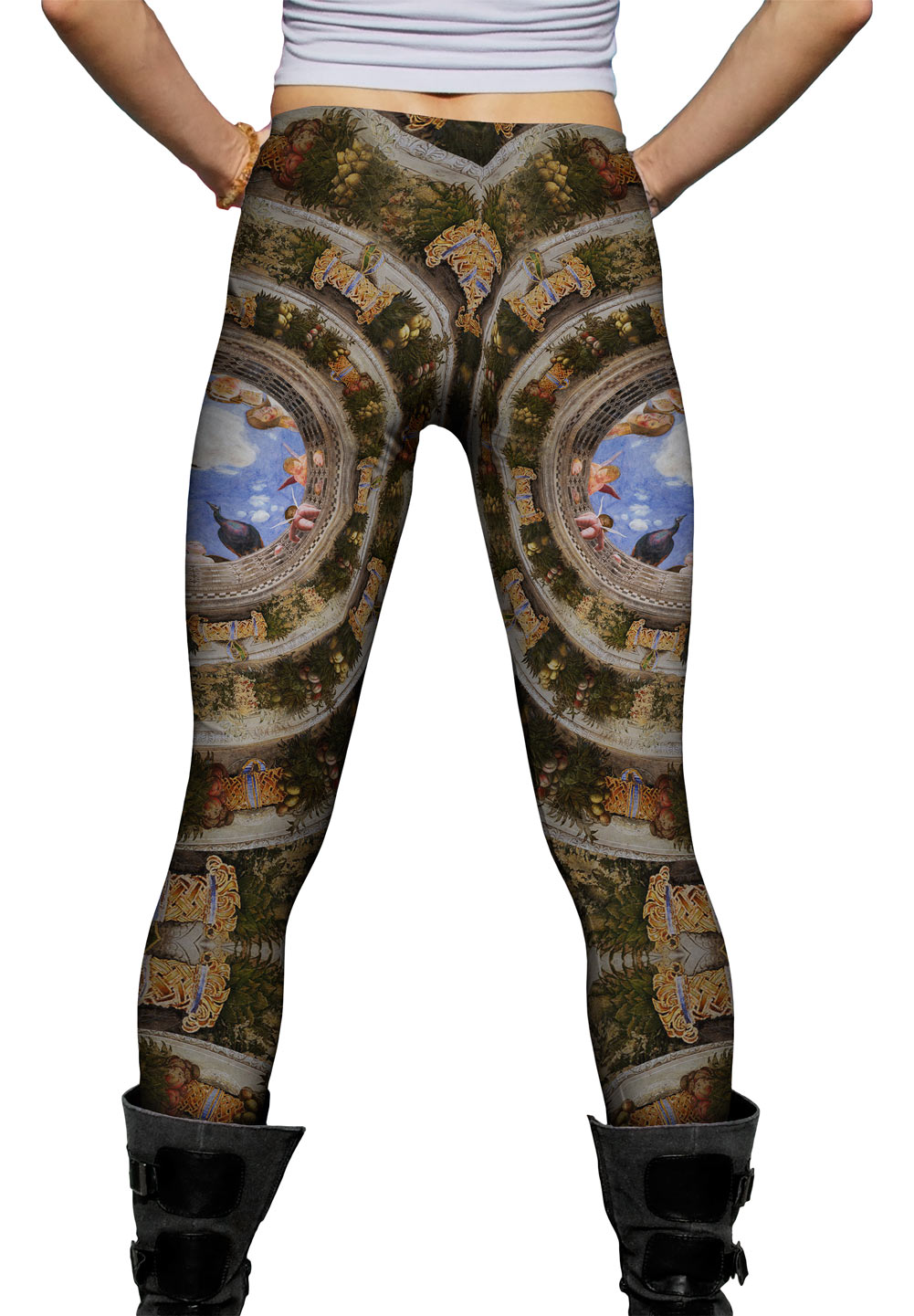 """Yizzam - Mantegna - """"Ceiling of the Camera Picta""""- New Ladies Womens Leggings"""