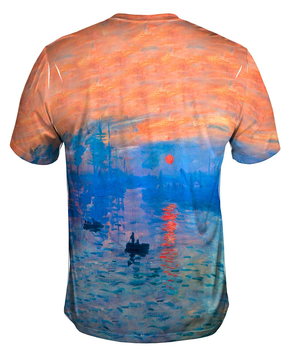 yizzam monet impression sunrise new men unisex tee shirt. Black Bedroom Furniture Sets. Home Design Ideas