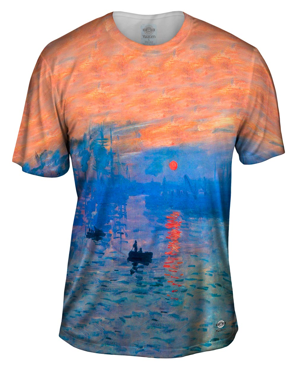 yizzam monet impression sunrise new men unisex tee shirt ebay. Black Bedroom Furniture Sets. Home Design Ideas