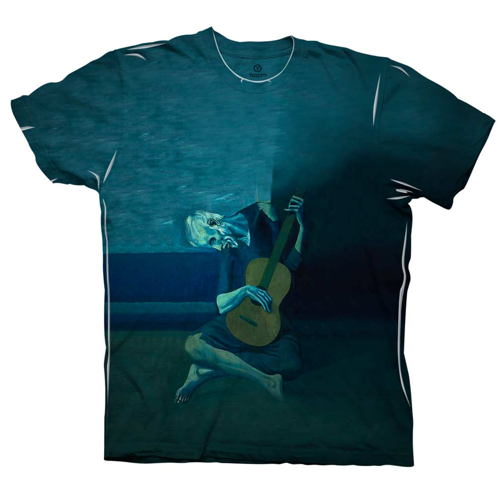 Yizzam Picasso Old Guitarist New Men Unisex Tee