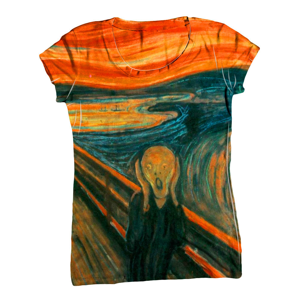 Yizzam munch the scream new womens top women tshirt for Best website to sell shirts