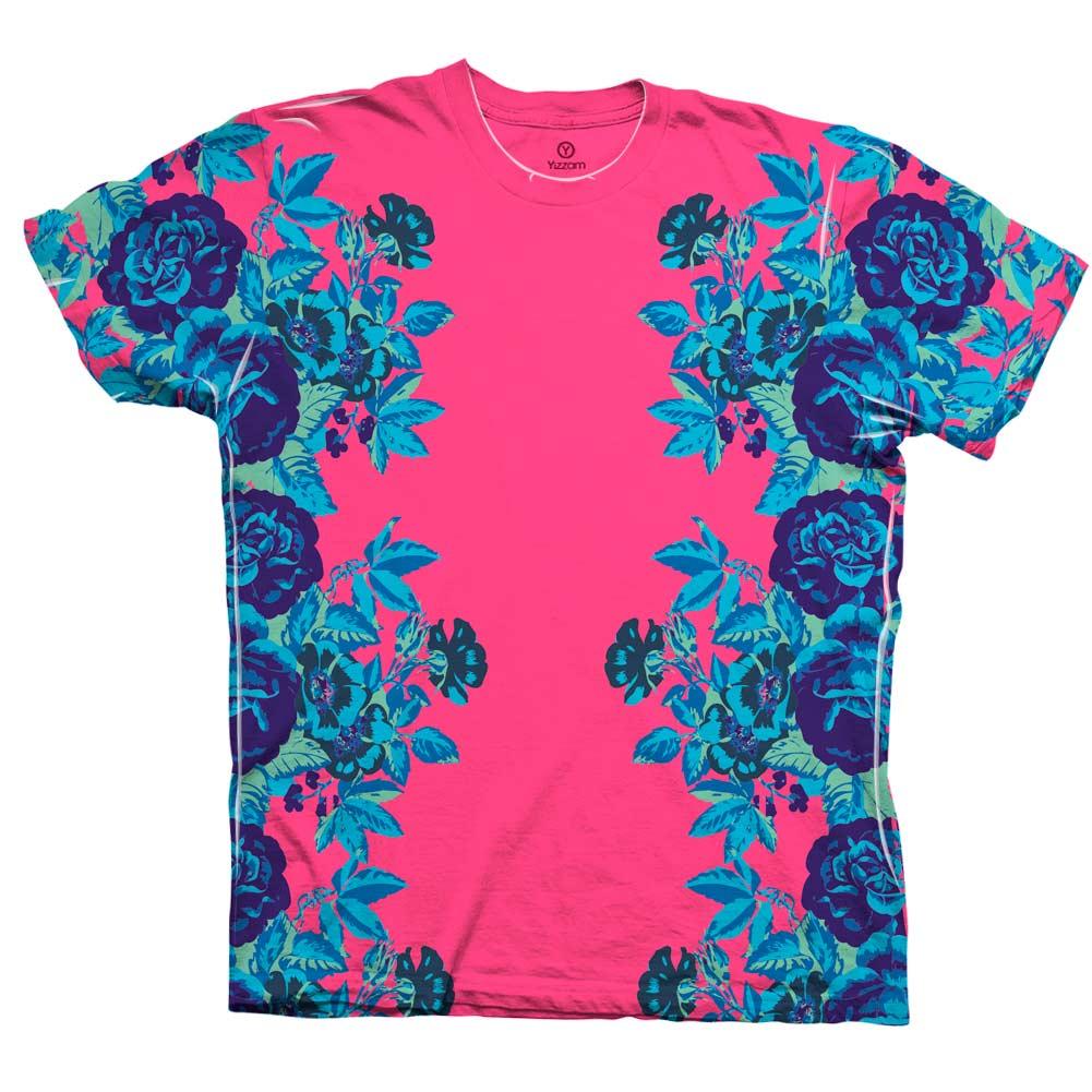 Yizzam- Floral Print Pink - New Men Unisex Tee Shirt XS S M L XL ...